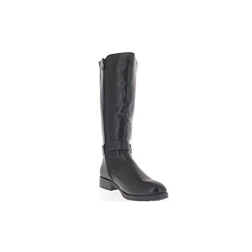 Donne nere stivali tacco alto 3cm staminali elasticizzati in pelle splendente sguardo