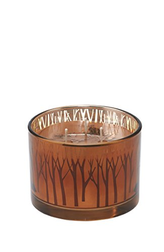 Souffle Large (Deco Flair CDL6421 Pumpkin Souffle Large Gilded Glass Candle)