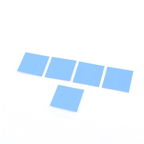 5 Pcs Thermal Conductive Heatsink Mount Stickers Blue 20x20mm (Mount Heatsink)