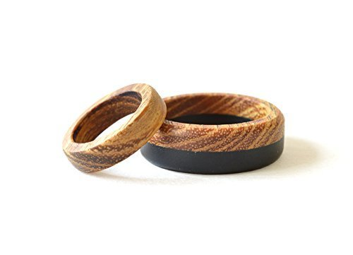 Amazon Com Wooden Ring Set Wooden Wedding Rings Natural Wedding