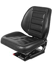 Sleeppersstoel tractorstoel bestuurdersstoel Vario 1050 PVC zwart passend Klepp Fendt Case IHC