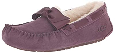 UGG Women's W Dakota Leather Bow Slipper