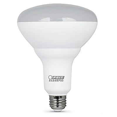 "FEIT ELECTRIC BR40DM/10KLED/2 Dimmable Led Bulb, 65 W, 120 Vac, 850 Lumens, 2700 K, CRI >80, 6.3""H x 5""D, 2 Piece"