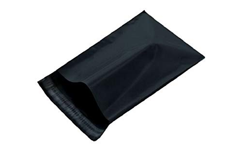 Poly mailers 19x24 Poly Bags 19 x 24. Premium Quality 3.2 mil. Pack of 50 Black Bags. Black Poly envelopes. Self Sealing Large Size Halloween Mailer. Packaging & Shipping -