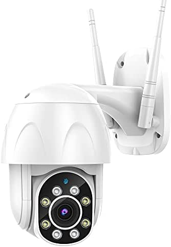 Outdoor Security Camera, Canshuo PTZ Wireless Security Camera 4X Zoom, 360°1080P View with IP66 Weatherproof Motion Detection Night Vision 2-Way Audio Works with Alexa Google Home( Non-Batteries )