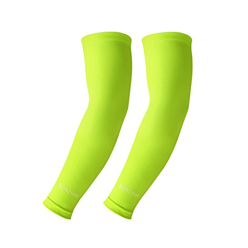 SONTHIN 1 Pair UV Protection Arm Sleeves  for Cycling/Running/Basketball/Baseball/Golf/Hiking and More Outside Activities (Baseball Arm)