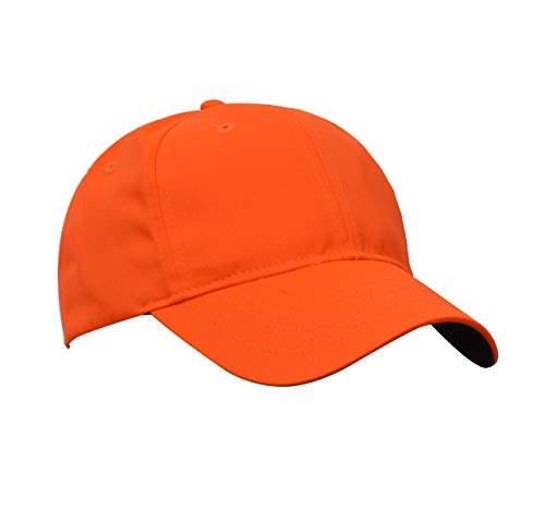 Tirrinia Blaze Orange Hunting Basics Cap Low Profile Tangerine Safety Baseball Hat with Adjustable Closure