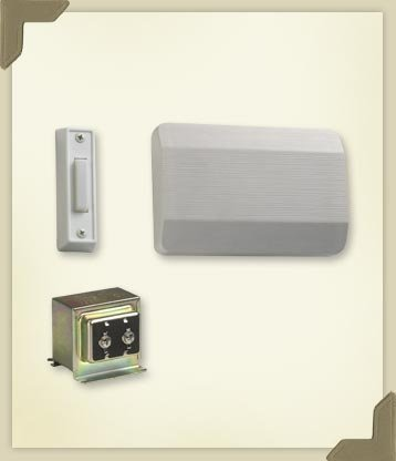 Single Door Chime Kit with One Button in White