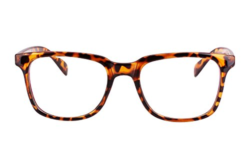 Agstum Wayfarer Plain Glasses Frame Eyeglasses Clear Lens (Tortoise shell, - Glasses Tortoise Shell Womens