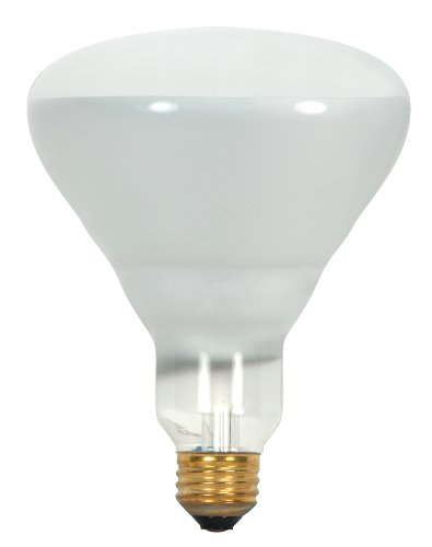 Satco S8521 130-Volt 65-Watt BR40 Medium Base Light Bulb, Frosted, ()