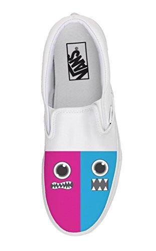 Vans Personalizzate Slip on - scarpe artigianali - Facce
