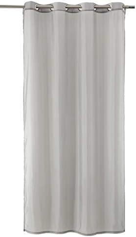 WohnDirect Set di 2 Tende con Occhielli di Alta qualità – Tende per finestre, Tende con Occhielli – Tende coprenti, Tende Moderne – Trasparenti, Finitura in Lino – 140x245cm – Grigio