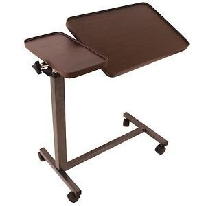 Double Support Rails (Eva Medical Deluxe Tiltable Overbed Table w One-touch Height Adjustment)