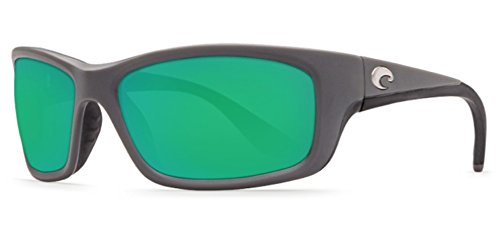 Costa Del Mar Jose Sunglasses, Matte Gray, Green Mirror 580 Glass - Del 580 Mar Jose Costa