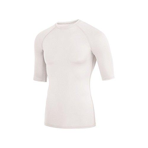 Augusta Sportswear Soccer Shirt - Augusta Sportswear Men's Hyperform Compression Half Sleeve Shirt M White