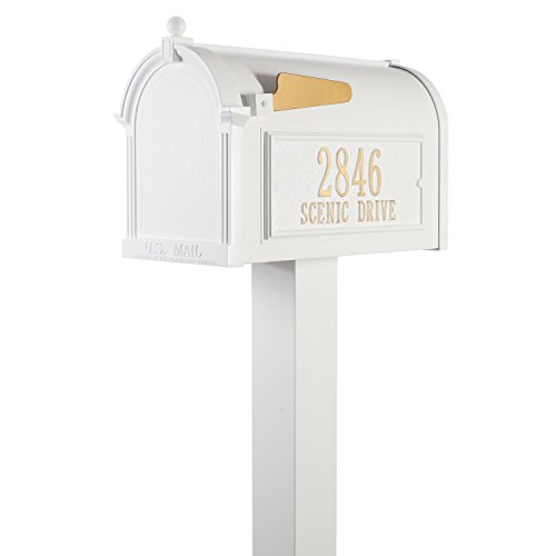 Whitehall Premium Mailbox Package (Whitehall Products Premium Mailbox Package, White)