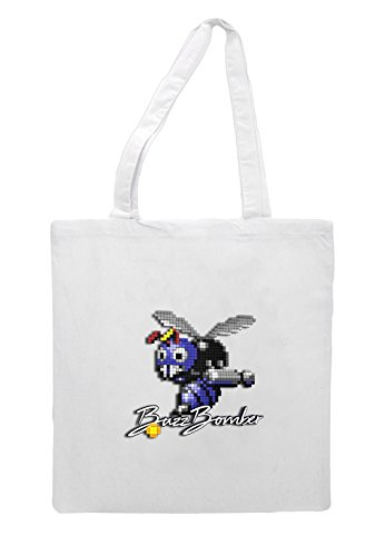 Bag Art Buzzbomber 3d Tote Shopper Pixel Gaming White wXpptr5qn