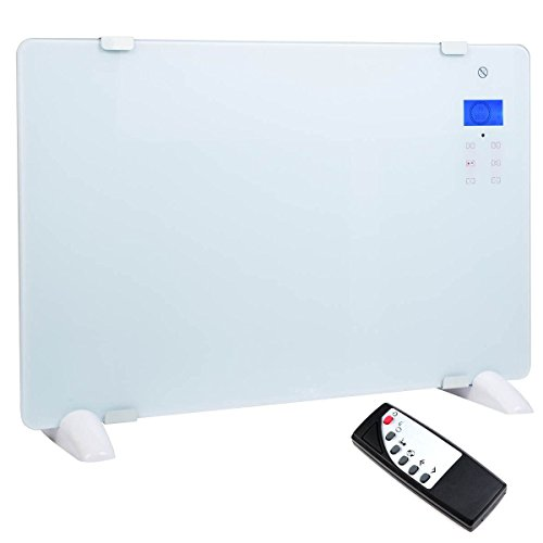 MasterPanel - 1500W LCD Glass Panel Heater Wall Mount Silent Energy Saving Compact White (Groom Glass Bears)