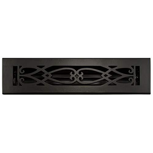 (Signature Hardware 292253 Victorian Cast Iron Floor Register - 2-1/4