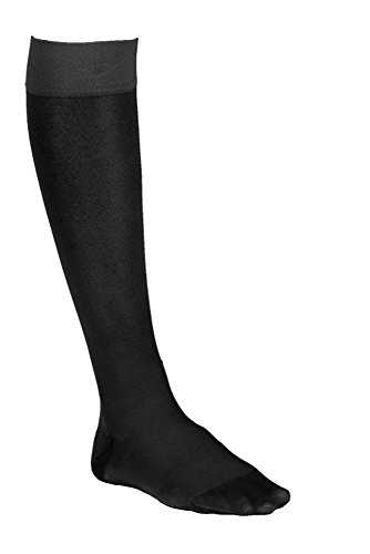 Dr. Comfort Women's So-Sheer Knee-High Compression Stocking, 15-20 mmHg, Black, Medium for Travel, Flying, Nursing, Pregnancy, Varicose Veins, Edema