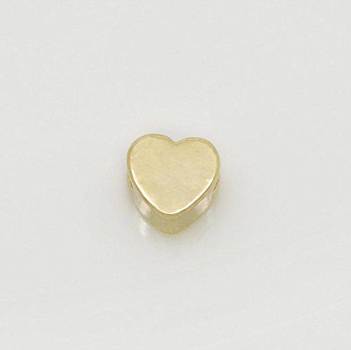 Strollway Pulsera Personalizada Accesorios de Metal Bricolaje Cuentas de Oro del corazón Brillante