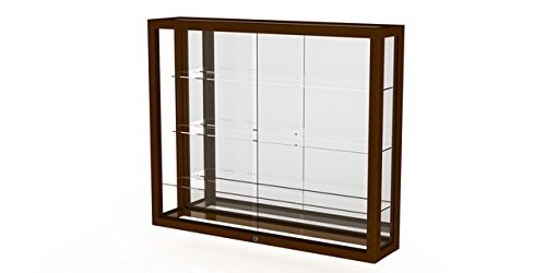 Heirloom Series Display Case - Heirloom Series Wall Display Case Case Backing: Mirror, Frame Color: Carmel Oak