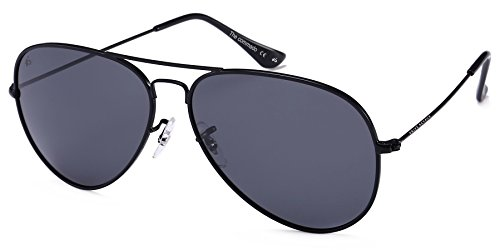 "PRIVÉ REVAUX ""The Commando"" Polarized Aviator Sunglasses - Handcrafted Designer Eyewear For Men & Women - Sunglasses Amazon"