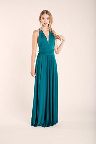 Amazon.com: Teal long dress, maxi dress, bridesmaid dress, turquoise party dress, turquoise bridesmaid dresses, feminine party long dress, event dresses: ...