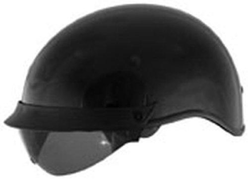 Shield Internal Cyber U-72 - Cyber Solid with Internal Shield U-72 Open Face Motorcycle Helmet - Black / 2X-Large