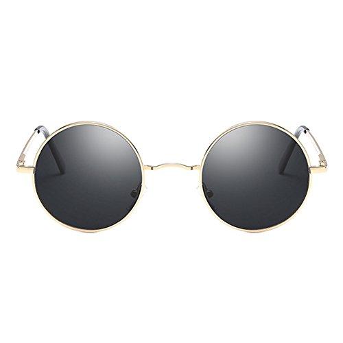 juqilu Lunettes hommes C8 conduite rétro femmes lunettes métal rondes polarisé classique soleil de xTwqTUHp