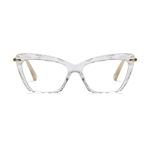 Womens Cat Eye Reading Glasses Fashion Crystal Prescription Eyewear Frame (Crystal Clear, ()