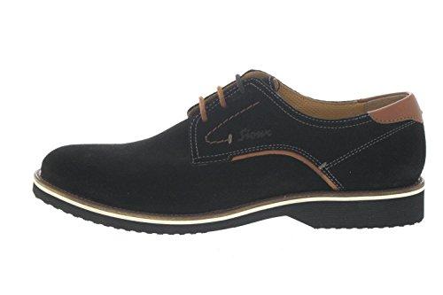 Sioux Zapatos de Cordones de Piel Para Hombre Marrón Negro