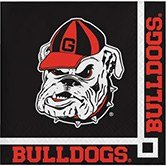 - Club Pack of 240 NCAA Georgia Bulldogs 2-Ply Tailgating Party Beverage Napkins