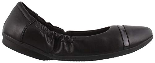 (CLARKS Women's Gracelin Jenny Ballet Flat, Black Leather, 100 W)
