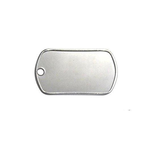 Army Universe 100 Matte Stainless Steel Military Spec Dog Tags - Blank by Army Universe (Image #1)