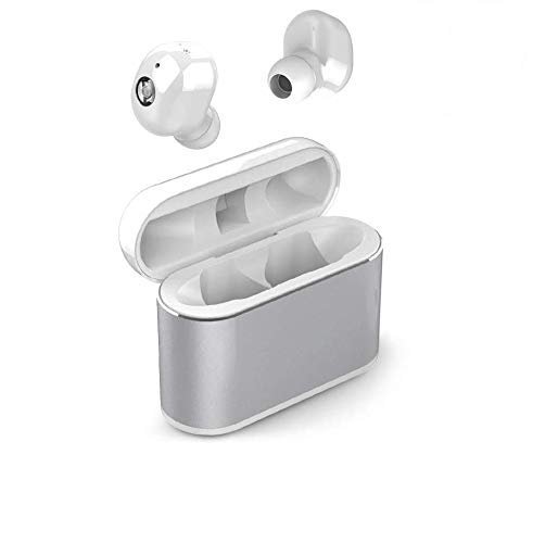 Wireless Earbuds, LAKASARA True Wireless Headphone with Emergency Power Bank, Mini Invisible in-Ear Earphone Sweatproof with Microphone,15H Playtime 3D Stereo Sound Wireless Earpods