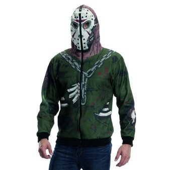 Jason Voorhees el Viernes la 13th Sudadera con Capucha XL con Capucha máscara de Hockey