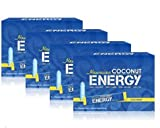 Hawaiian Coconut Supplement Energy Drink Powder Packets for Water (Natural Post- and Pre-Workout Energy Drink Powder Mix) - 240 Count (4 Boxes)