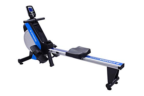 Stamina DT Pro Rowing Machine 1409 | 2 Free Online Guided On Demand Workouts | Stream from Any Device