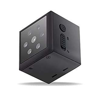 PIKOOO Mini Hidden Camera Support up to 128GB Memory Card Nanny Camera with Night Vision Motion Detection- Wireless for Indoor Outdoor use- 1080HD-No WiFi Required-Security for Home or Business