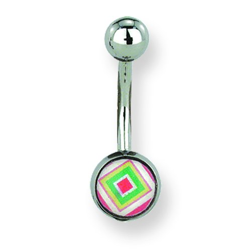 Jewelry by Sweet Pea 316L SRG GR SSTL 14G 7//16 Lg Expanding Square Belly Ring