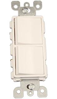 leviton w amp volt decora brand style way  leviton 5641 w 15 amp 120 277 volt decora single pole
