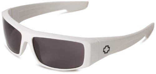 Spy Optic Logan Sunglasses,Shiny White Frame/Grey Lens,one size