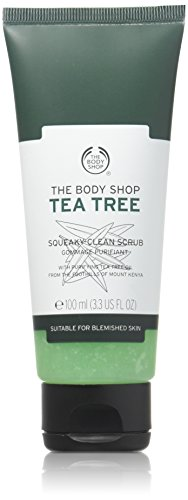 The Body Shop Tea Tree Squeaky-Clean Exfoliating Face Scrub, 3.3 Fl Oz (Vegan)