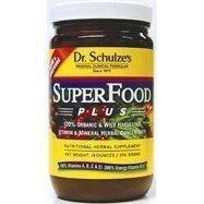 (1) du Dr Schulze Superfood Plus! 14 oz Jar entier en poudre nutritive minérale Complément alimentaire repas de remplacement