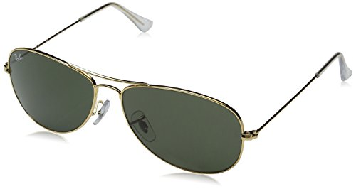 Ray-Ban COCKPIT - ARISTA Frame CRYSTAL GREEN Lenses 59mm Non-Polarized (Sunglasses Best Company)