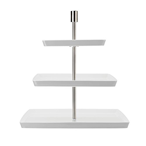 Thomas Loft Etagere, Angular, Porcelain, White, Dishwasher Safe, Ø 19 / 25 / 32 cm, Levels, 25318