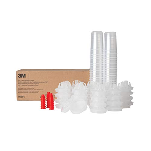 3M PPS Paint Spray Gun Cup Lids and Liners Kit, 16114,