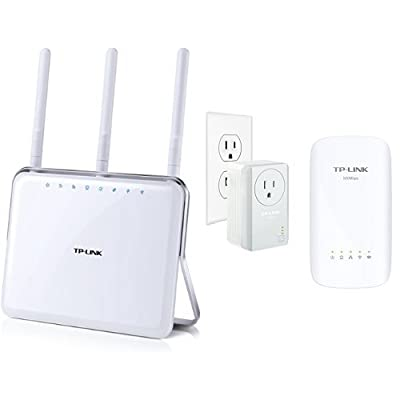 TP-LINK AC1900 Wireless Wi-Fi Dual Band AC Router and AV500 AC750 Wi-Fi Range Extender