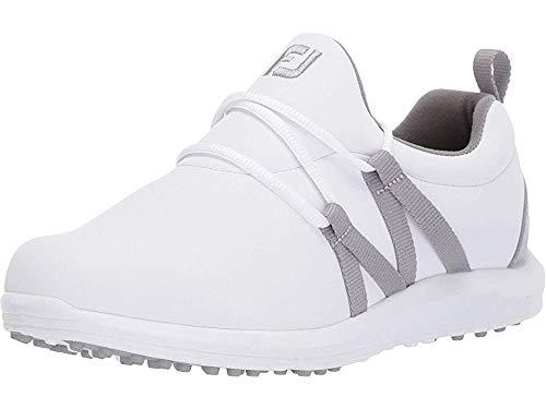 FootJoy Ladies Leisure Slip-On Spikeless Golf Shoes White/Grey 8.5 Medium (Best Ladies Golf Shoes)